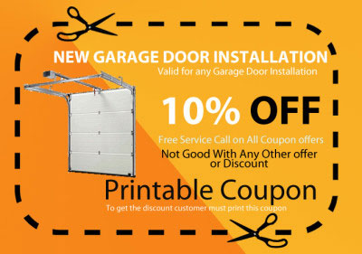 New garage door installation